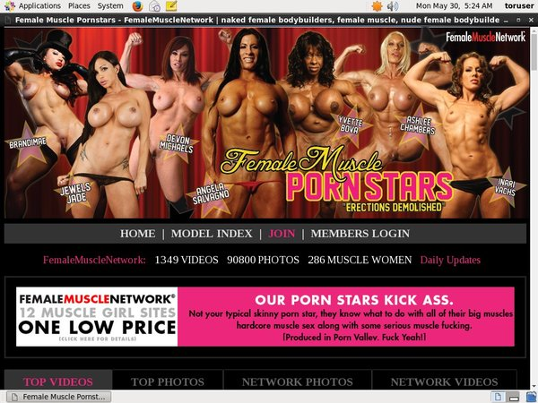 Free Account To Female Muscle PornStars