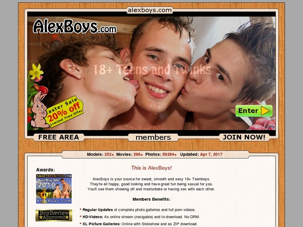Free Alexboys Login Account
