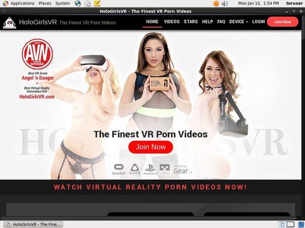 Holo Girls VR Sing Up