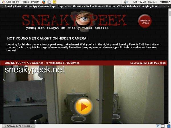Sneaky Peek Girl
