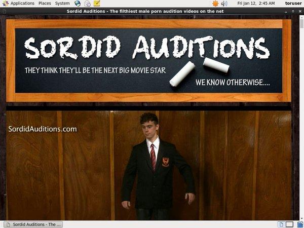 Sordid Auditions Member Login
