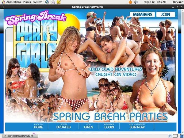 Springbreakpartygirls.com Password