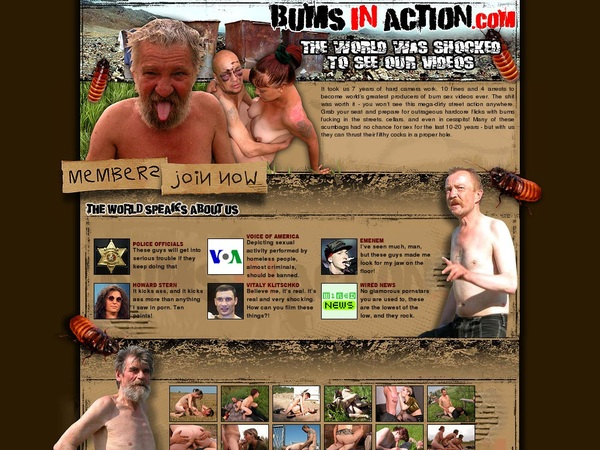 Bums In Action Account Free