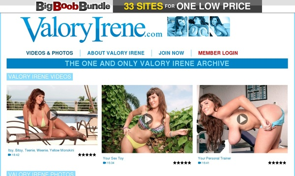 New Valory Irene Accounts