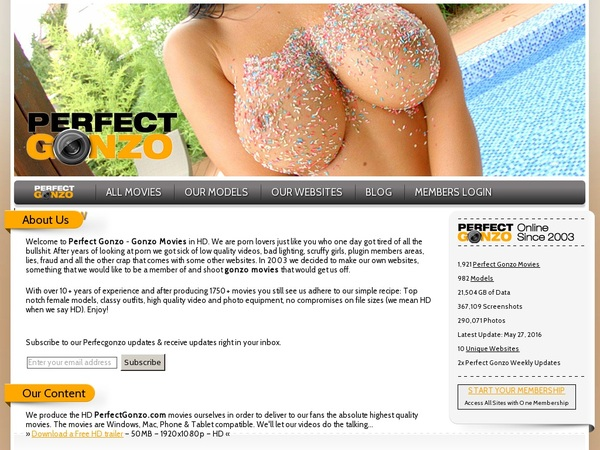 Free Account Perfect Gonzo