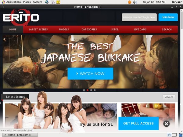 Erito Website Accounts