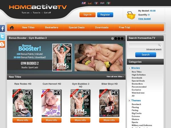 Homoactive.tv Freies Konto