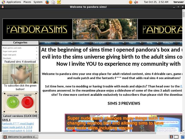 Pandorasims.net 로그인