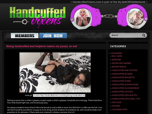 Handcuffedvixens Blog