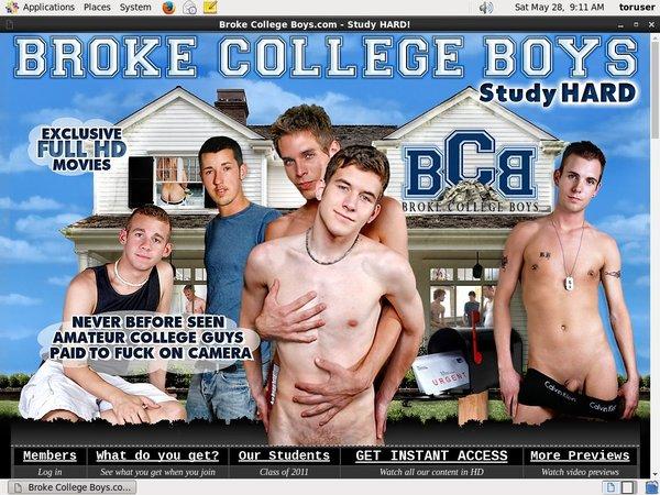 Log In Broke College Boys