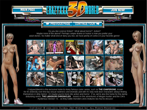 Free Crazyxxx3dworld.com Account Login
