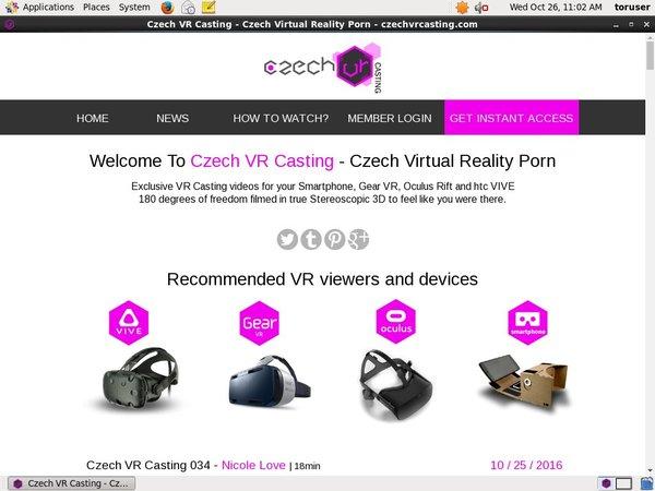 Czech VR Casting Daily Passwords