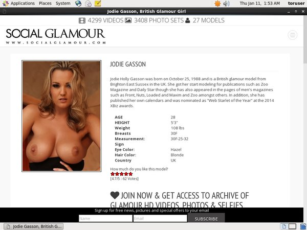 Jodie Gasson Without Credit Card