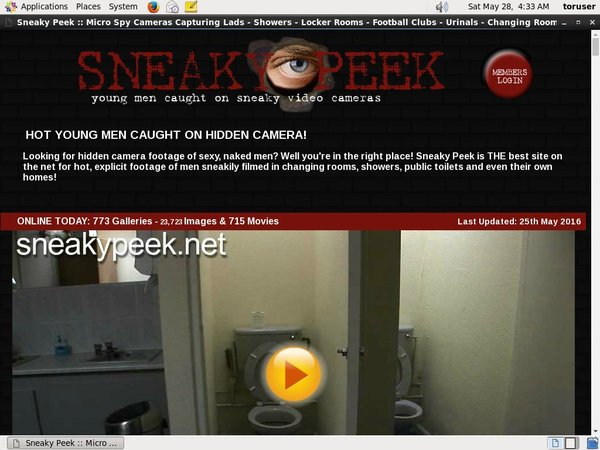 Sneaky Peek サイン アップ