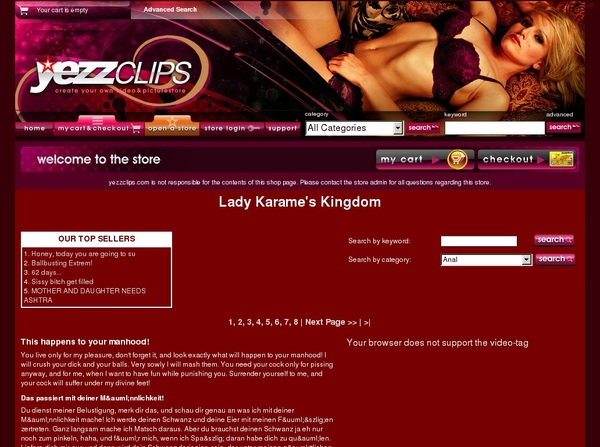 Lady Karame's Kingdom Paypal Signup